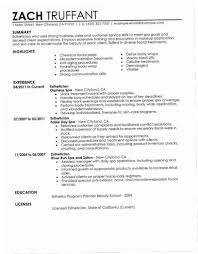 ResumeEsthetician Resume Examples Sample Objective Cover Letter Summary Exam Medical No Experience Esthetician