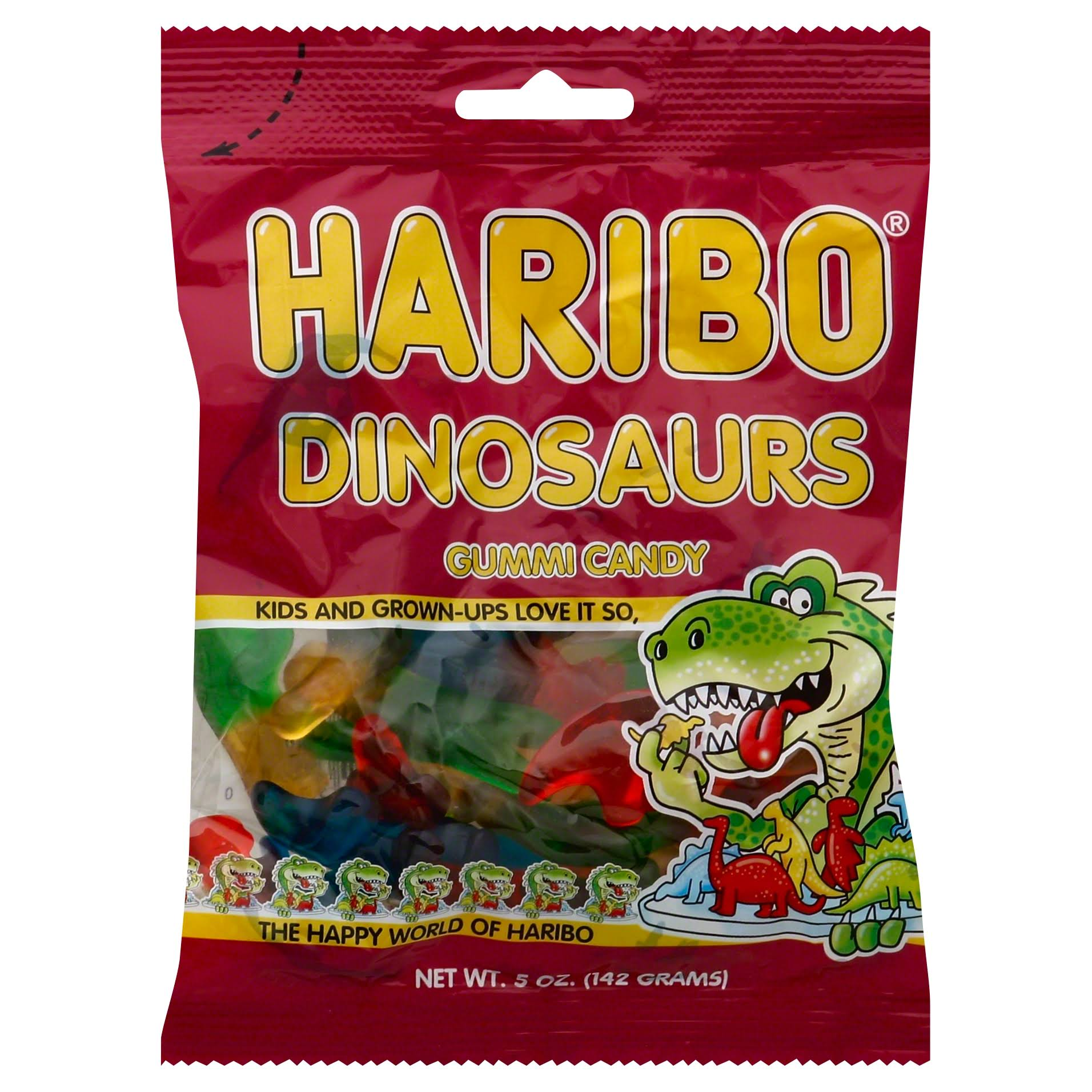 Haribo Dinosaurs Gummy Candy - 142g