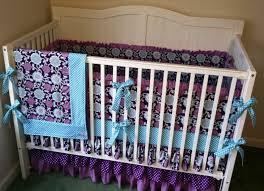 bedroom adorable purple floral crib bedding set the