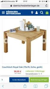 couchtisch royal oak 70x70cm dänisches bettenlager