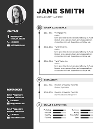 Modern Black And White Resume Template - Venngage 2019 Free Resume Templates You Can Download Quickly Novorsum Modern Template Zoey Career Reload 20 Cv A Professional Curriculum Vitae In Minutes Rezi Ats Optimized 30 Examples View By Industry Job Title Best Resume Mplates That Will Showcase Your Skills Soda Pdf Blog For Microsoft Word Lirumes 017 Traditional Refined Cstruction Supervisor Jwritingscom Builder 36 Craftcv 5 Google Docs And How To Use Them The Muse