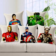 24 X 24 Patio Cushion Covers by American Tv Series The Avengers Cushion Cover Geometric Superman