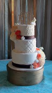 Elegant Rustic Wedding Cake