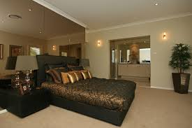 Impressive Picture Of Gold And Black Classy Bedroom Decoration Using Fabric King Bed Frame Including