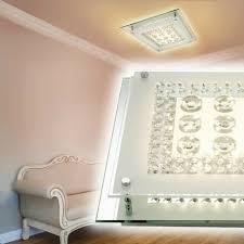 led deckenleuchte design le schlaf wohn ess zimmer küche flur diele glas