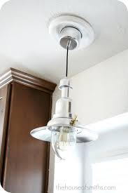 new kitchen lighting converting a can light with a recessed