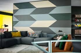 wand streichen muster ideen wohnzimmer horizontal