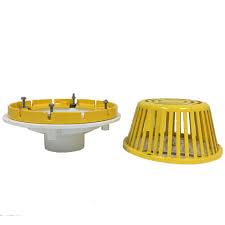 Josam Floor Drain Basket by Portals Plus White Pvc Roof Drain