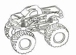 100 Monster Truck Drawing Police Coloring Page Inspirational Outline At