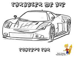 Cool Car Coloring Pages For Boys