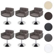 6x esszimmerstuhl orlando küchenstuhl drehstuhl stuhl kunstleder chrom