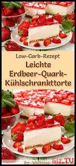 leichter kohlenhydratarmer erdbeer quark k hlschrank rezept