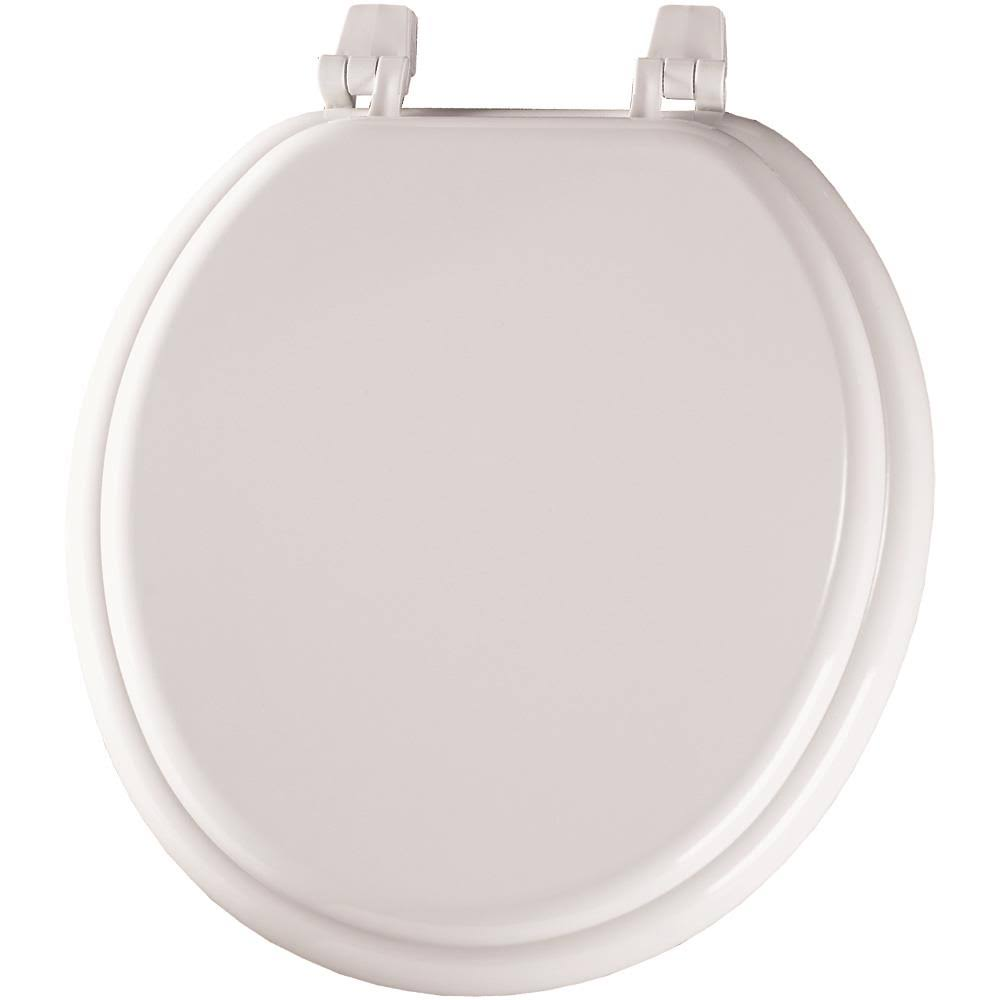 Mayfair Molded Wood Round Toilet Seat - White