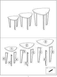 yjiijy 3er set beistelltischen für den industrial design