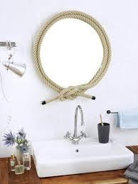 maritime deko ideen spiegel und türstopper mit tau wohnidee