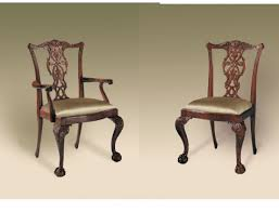 Carved Ball N Claw Chippendale Style Mahogany Dining Room Chairs MS 4031 268