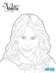 Violetta Blowing Kisses Coloring Page