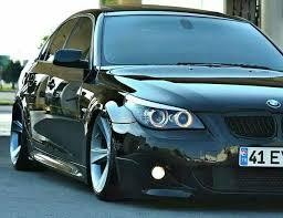 BMW E60 5 series black slammed Sport cars Pinterest