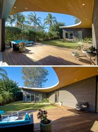 The Avocado Acres House In California Features A Roof That Curves ... Best 25 Bench Swing Ideas On Pinterest Patio Set Dazzling Wooden Backyard Pergola Roof Design Covered Area Mini Gazebo With For Square Pool Outdoor Ideas Awesome Hard Cover Lean To Porch Build Garden Very Solar Plans Roof Awning Patios Wonderful Deck Styles Simple How To A Hgtv Elegant Swimming Pools Using Tiled Create Rafters For Howtos Diy 15 Free You Can Today Green Roofready Room Pops Up In Six Short Weeks