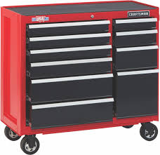 100 Service Truck Tool Drawers 2000 Series 41 Wide 10Drawer Rolling Cabinet RedBlack
