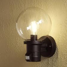 globe outdoor wall light sensor lighting pir motion