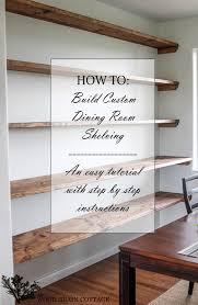 diy dining room open shelving open shelving wood grain and diy