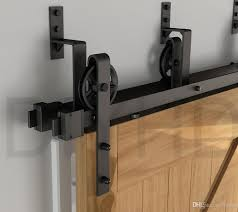 2018 Vintage Style Strap Industrial Spoke Wheel One Piece Bypass ... Barn Door Track Trk100 Rocky Mountain Hdware Contemporary Sliding John Robinson House Bring Some Country Spirit To Your Home With Interior Doors 2018 6810ft Rustic Black Modern Buy Online From The Original Company Best 25 Barn Door Hdware Ideas On Pinterest Diy Large Hinges For A Collections Post Beam Raising Ct The Round Back To System Bathrooms Design Bathroom Ideas Diy Rolling Classic Kit 6ft Rejuvenation