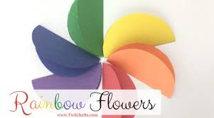 Create It All Seasons These Construction Paper Rainbow Flowers Are Perfect Diy For Your Kids To Make