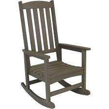 Sunnydaze Outdoor Patio Rocking Chair, All-Weather Faux Wood Design, Gray