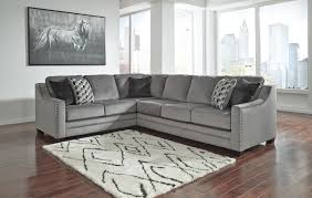 Bicknell Charcoal 48 Ashley Sectional Sofa