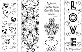 Valentines Day Coloring Bookmarks