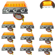 100 Truck Marker Lights 10 Pcs Car LED Clearance Side Lamps For Automobiles Trailer Caravan 24V HEHEMM