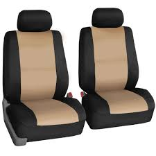 FH Group Beige Neoprene Water Resistant Bucket Seat Covers (Set Of 2 ...