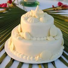 If You Are Looking For A Simple And Elegant Beach Wedding Cake Big Day Weddings Offers Themed 3 Tier With White Buttercream Frosting