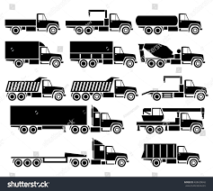 Vector Trucks Icon Set Stock Vector (Royalty Free) 428629642 ...