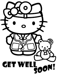 Get Well Soon Coloring Pages To Download And Print For Free Hello Kitty