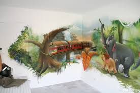 deco chambre dinosaure chambres de garçons décoration graffiti deco
