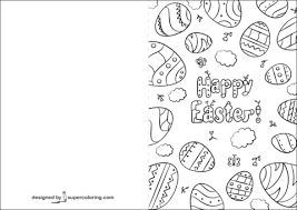 Click To See Printable Version Of Happy Easter Card Coloring Page