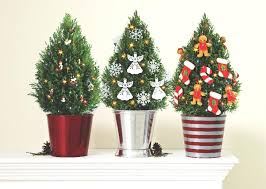 Small Xmas Tree With Lights Miniature Cypress Trees Gingerbread Men Stocking Candy Cane Snowflake