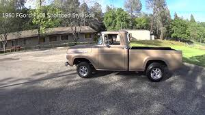 1960 Ford F100 Short Bed - YouTube Why Nows The Time To Invest In A Vintage Ford Pickup Truck Bloomberg 1960 F100 Classics For Sale On Autotrader This Sema Build Will Make You Say What Budget Wheels Pinterest Trucks And Classic Ranchero Red Motormax 79321acr 124 F1 Street Legens Hot Rods The Show 2016 Youtube Ford 12 Ton Short Bed 460 Big Block Power C6 Frankenford With Caterpillar Diesel Engine Swap Classiccarscom Cc708566 To 1970 Trucks For Best Resource Nice Lowered Stance Satin Black Paint Job