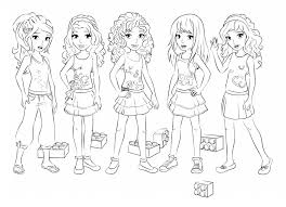 LEGO Friends Coloring Page To Print