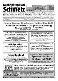 nr 32 2008 gemeinde schmelz