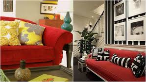living room beautiful living room with red sofa decoration using