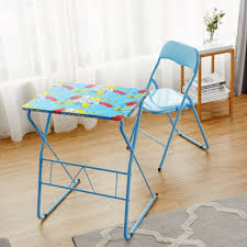 100 Folding Table And Chairs For Kids Giantex Chair Set Study Writing Desk Student