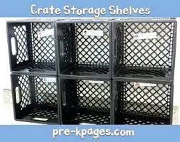 Milk Crate Storage How To Make For The Classroom Plastic Ideas