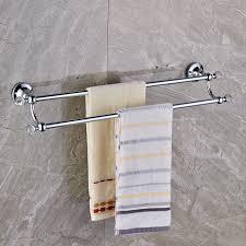 chrome kristall doppel handtuchhalter wand messing handtuchhalter bad badetuch stange