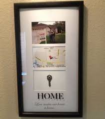 Client Gift Idea Frame From Target Picture With For Sale Sign Map Of Where The House Is And Original Key After You Get Locks Changed