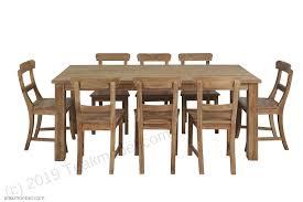 teak tisch gebürstet 200 x 100 8 stühle