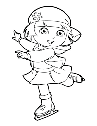 Full Image For Dora Christmas Printable Coloring Pages Mermaid The Explorer