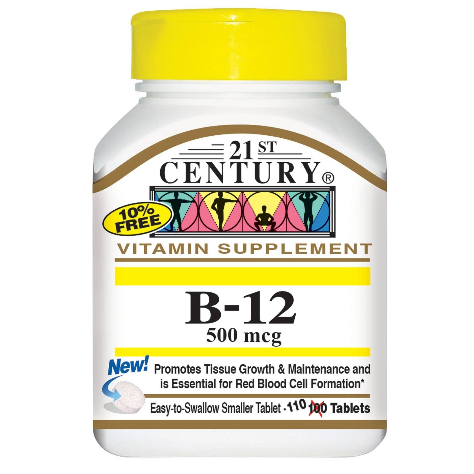 21st Century Vitamin B-12 Dietary Supplement - 500mcg, 110 Tablets